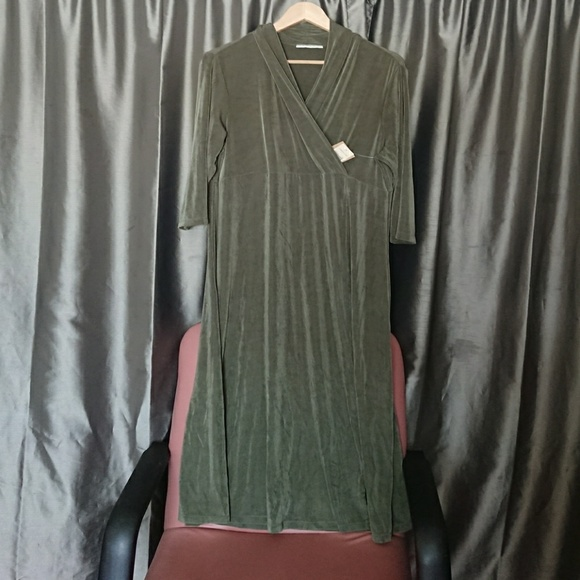 8c23762845 Coldwater Creek Dresses | New Dress Xl Maxi Travel Knit Crossover ...